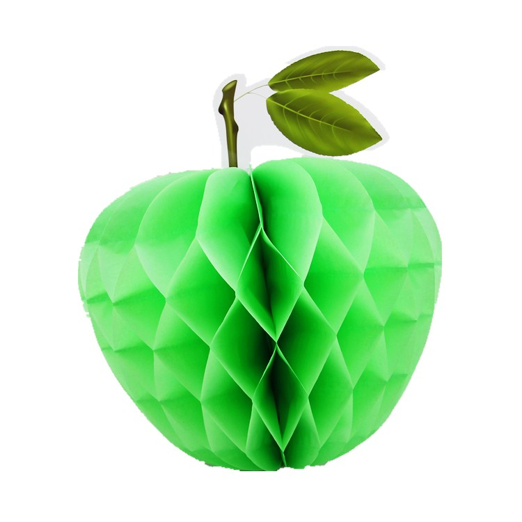apple shaped tissue paper honeycomb ball