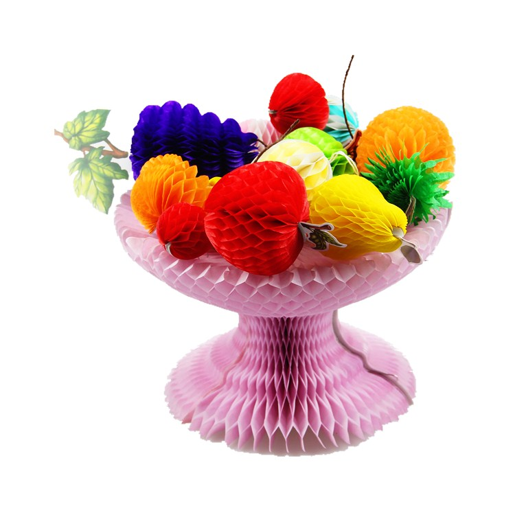 fruit plate shaped tissue paper honeycomb ball