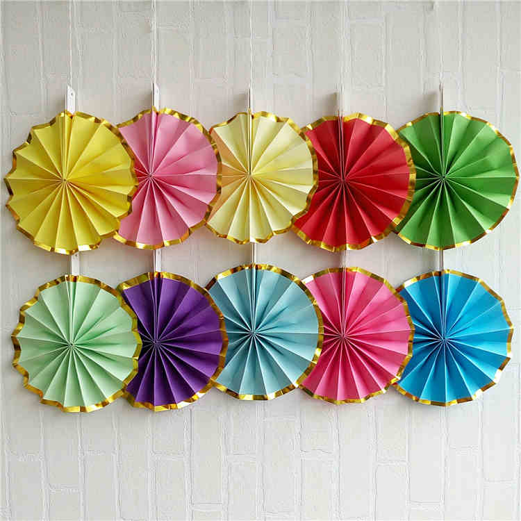 Paper Fan For Wedding Decoration