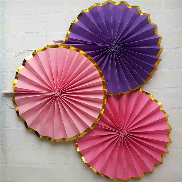 Mixed Color Pastel Paper Fan