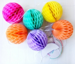 Colorful Honeycomb Ball Garland