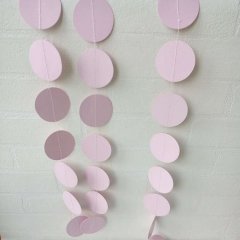 Pink Round Flat Ball Paper Garlands