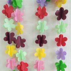 Flower Paper String Garland