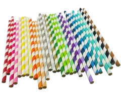 christmas Paper Drinking Straws