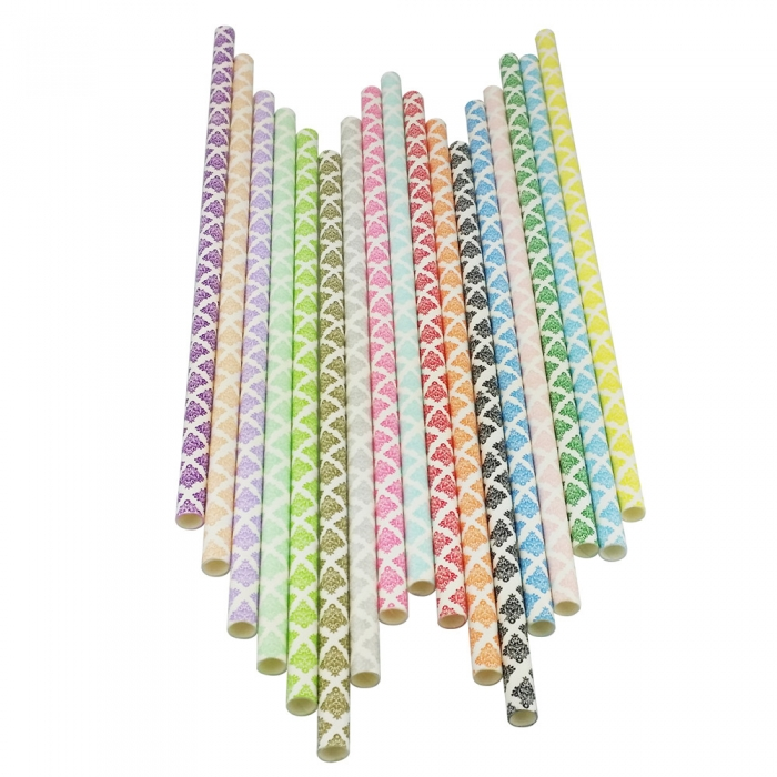 Damask Paper Straws Wholesale