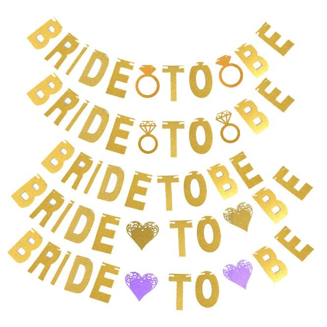 Paper Decorations  Bride To Me Banner Gold